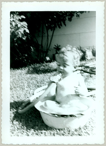 Child in a tub