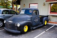 custom car(0.0), auto show(0.0), compact car(0.0), vintage car(0.0), automobile(1.0), pickup truck(1.0), vehicle(1.0), truck(1.0), chevrolet advance design(1.0), hot rod(1.0), antique car(1.0), land vehicle(1.0), motor vehicle(1.0), classic(1.0),