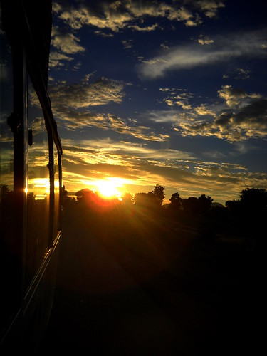 africa light sunset sky reflection bus clouds contrast cameroon cameroun