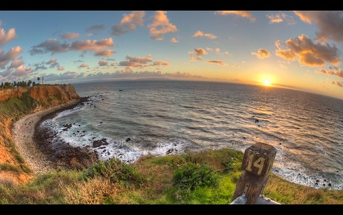 california sunset sea cliff lighthouse clouds coast nikon waves fisheye socal southerncalifornia hdr costal palosverdes ranchopalosverdes pointvicentelighthouse nikkor16mmfisheye
