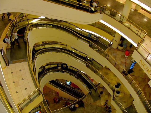 Nordstrom Curved Escalators