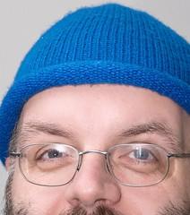 Robert mit blauer Haube