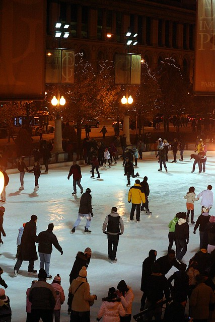 Ice rink at the Millennium Park