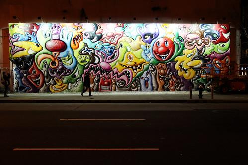 Kenny Scharf Houston Street Mural