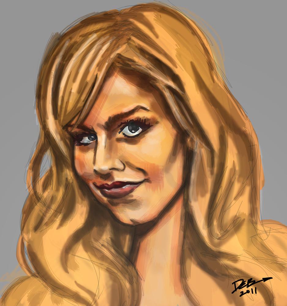 blond sketch