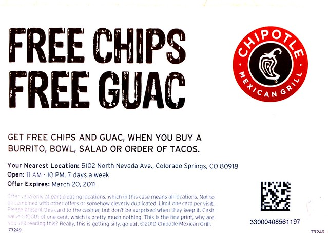 chipolte coupons
