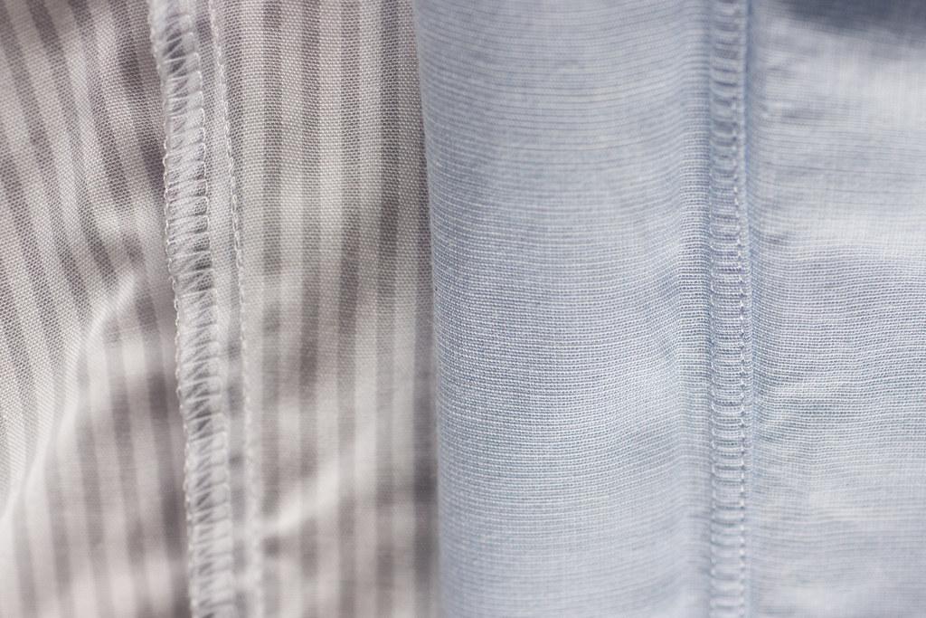 『軽井沢シャツ』と『鎌倉シャツ』比較 裏の処理