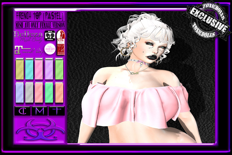 [TD] French Top [PASTEL] - SecondLifeHub.com