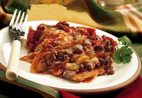 Slow Cooker Layered Enchilada Dinner Recipe