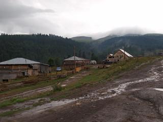 Bauerndorf in der Nähe des Goderdzi-Passes