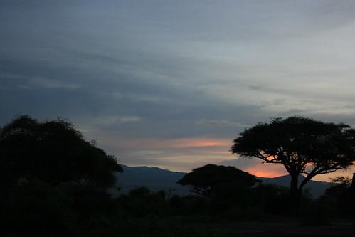 sunset sky holiday kenya safari amboseli