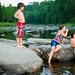 Petite baignade / Swimming in the river