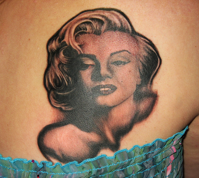 Marilyn Monroe tattoo Jared Preslar Lucky Bamboo tattoo