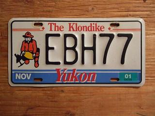 YUKON 2001 ---PASSENGER PLATE EBH77