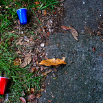 Sidewalk Solo Cups Plastic Red Blue