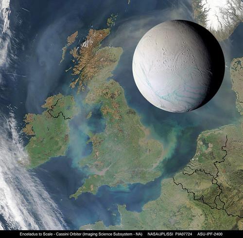 Enceladus to Scale