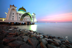 Sunset @ Selat Mosque, Malacca