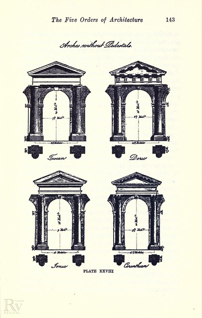 Five orders of architecture 1910 revival source by for 5 orders of architecture