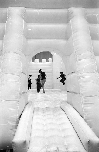White Bouncy Castle by stundenhotel