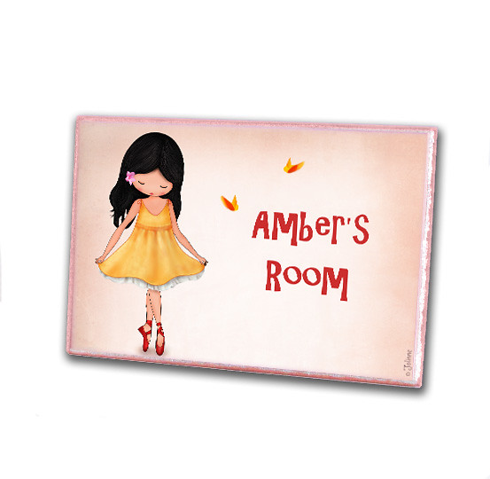 Personalized Girls Wooden Door Plaque Sign For Nursery