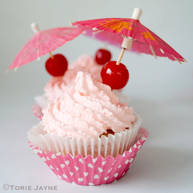 Gluten free Strawberry Daiquiri Cupcakes