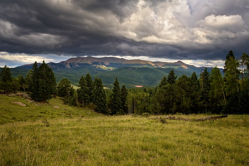 sky cloud sunlight storm nature rain clouds skyscape landscape nikon peak stormy co pikes thunderstorm cloudscape pikespeak speckled teller 2010 exposureblending twoexposures tellercounty nikon1735 d700