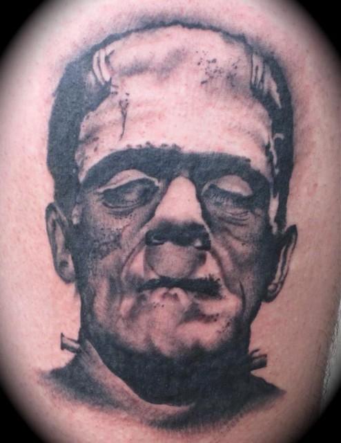 Frankenstein portrait tattoo