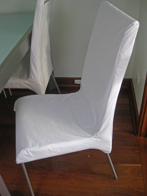 Chair cover dining make chair pads cushions - How to make easy slipcovers for dining room chairs ...