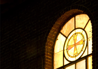 St. John's Chapel at Newman University-stained glass window