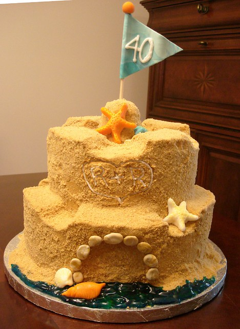 Sandcastle Wedding Cake Topper