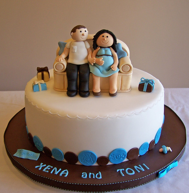 baby shower cake pregnant couple this is a repeat design of a cake i ...