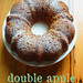 double apple bundt cake