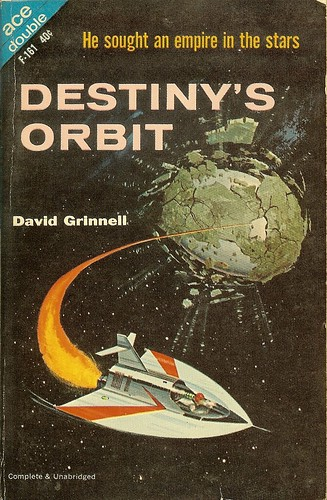 David Grinnell - Destiny's Orbit - Ace Double F-161 - cover artist Ed Valigursky