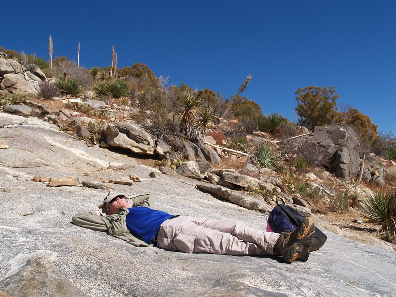 Me, taking a rest at Flatrock, on the Skyline Trail