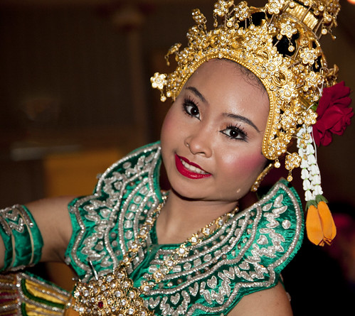 Thai dance woman