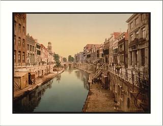 The Oude Gracht Viebrug Utrecht Holland