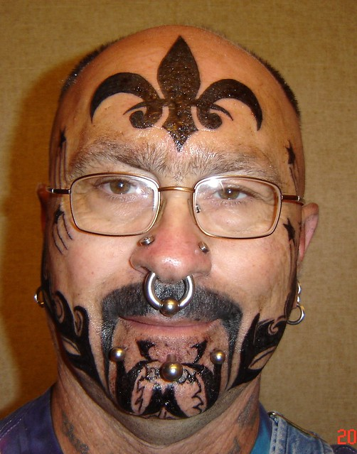 my new face tattoos 001