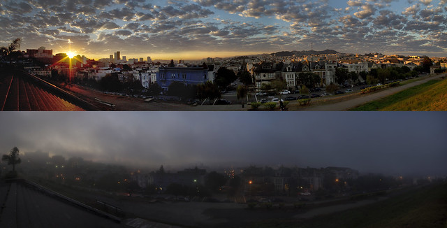 Weather in San Francisco from one day to the next / POV Alta Plaza, San Francisco (2010)