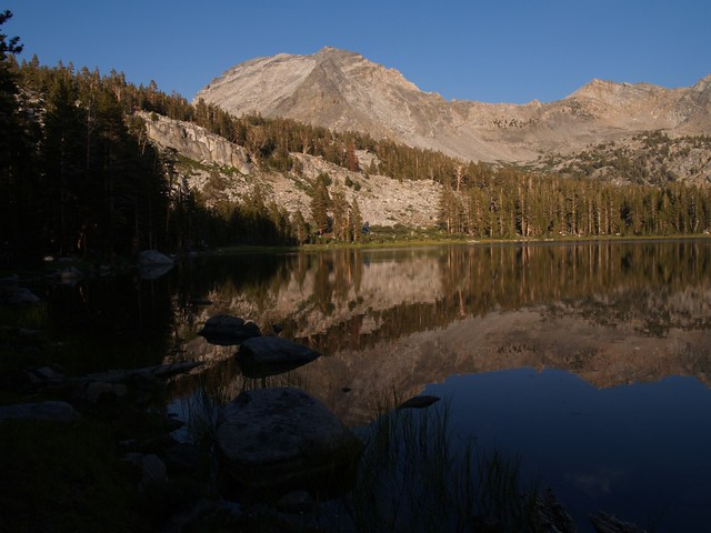 The view of State Peak from Upper State Lake