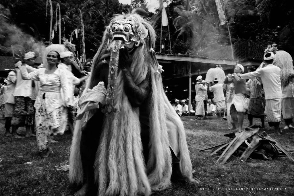 bali sacred image : Rangda Dance at Puseh Temple, Selumbung, Karangasem