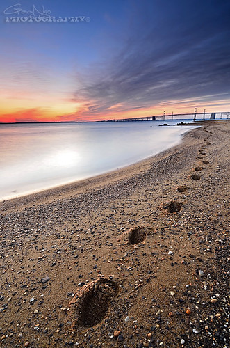 light seascape beach clouds sunrise landscape sand nikon steps maryland explore footprint sandypointstatepark d7000