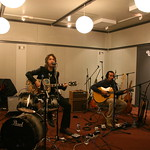 Joseph Arthur, Ben Harper and Dhani Harrison at WFUV. (10/7/10)
