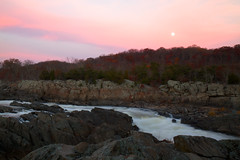 The Great Falls with Rising Moon