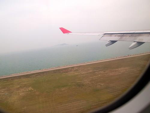 Landing at HKG