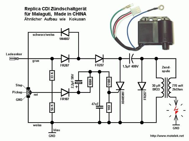 dc cdi wiring schematic