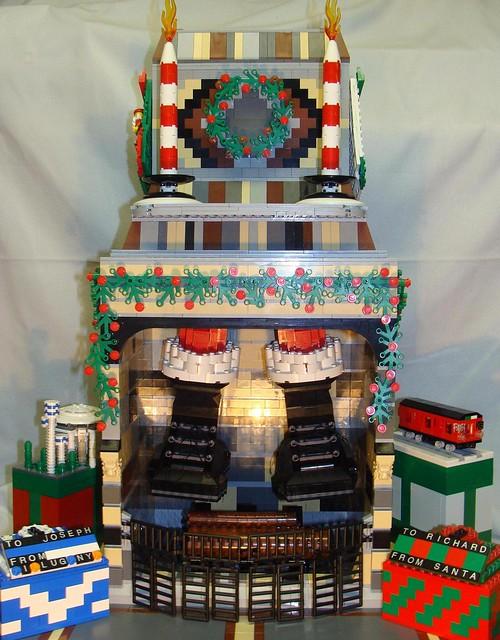 Bricks Garden Center Quakertown Hours : Lego fireplace at christmastime flickr photo sharing