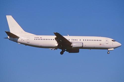 Aircraft (B734) silhouette