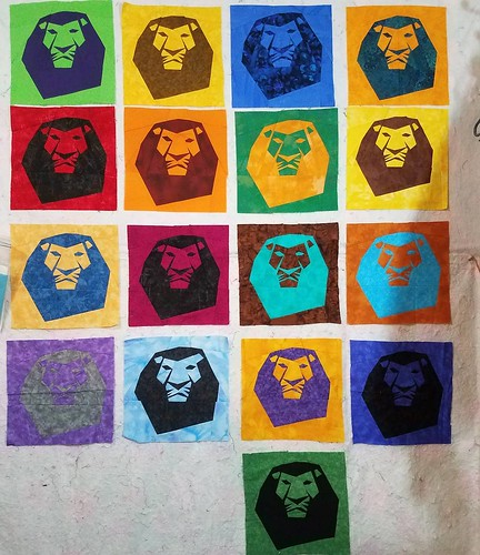 Lion King Quilt Progress