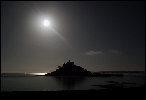 Nightfall Over St. Michael's Mount