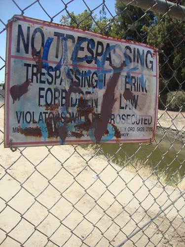 No Trespassing on Stine Road